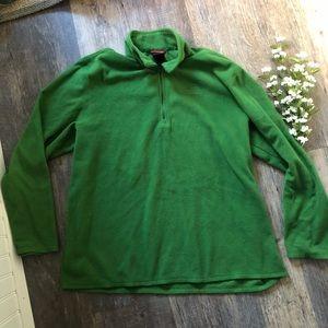 The North Face Shirts - Men's The North Face Green Fleece Sweatshirt